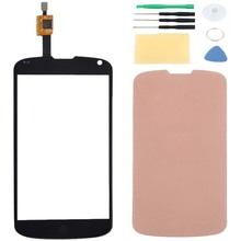 For LG Nexus 4 E960 Touch Screen Digitizer Sensor Glass Panel Lens Replacement & Adhesive Tape + Free Tools With Tracking Number