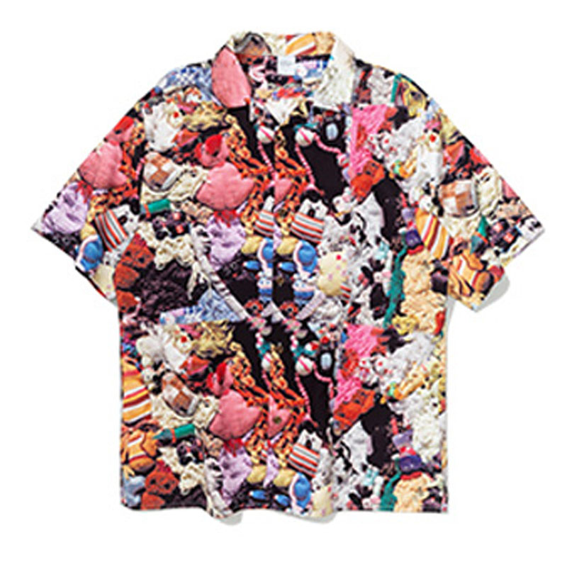 Hfnf Hawaiian Youth Harajuku Shirts Printed Floral Summer Floral Rapper Beach Leisure Shirts For Men Hip Hop Streetwear Men