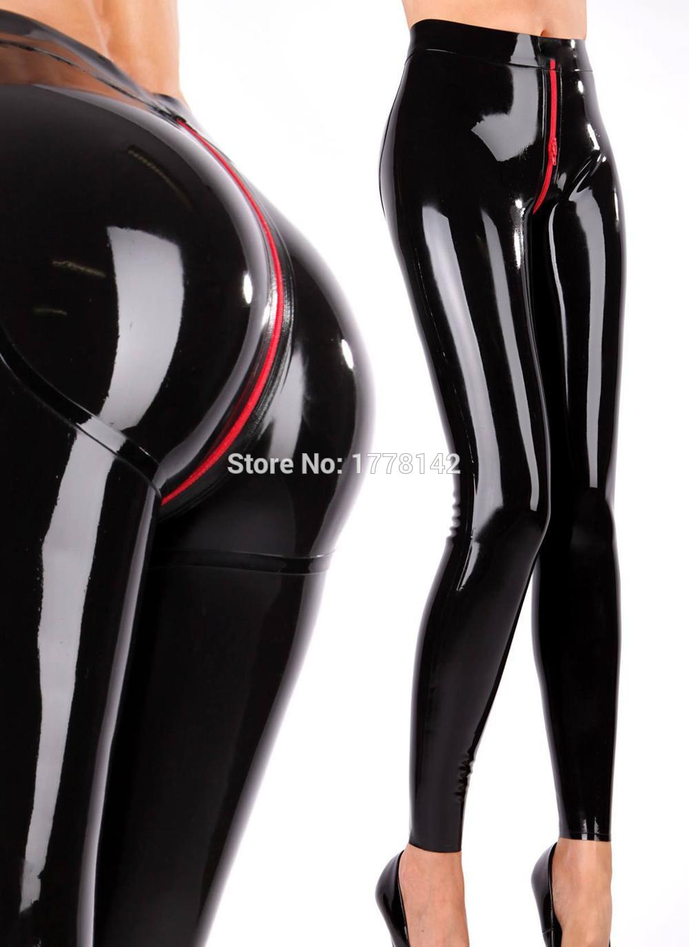 Women Latex Leggings Women Sexy Skinny Trouser 3d Cut Hips Crotch Zip Aliexpress