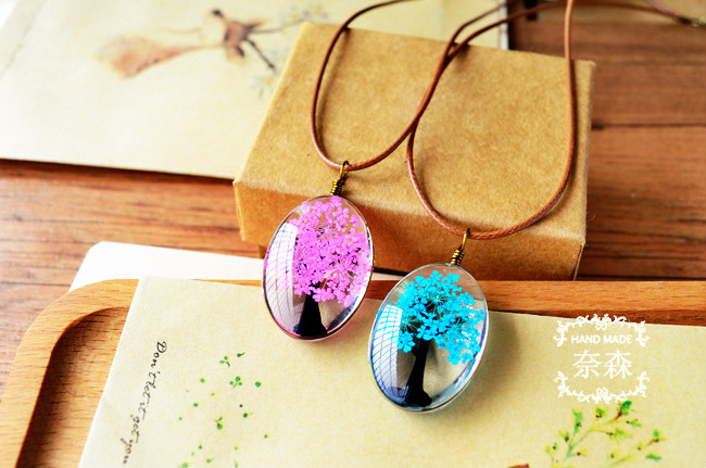 HTB1SQxfQpXXXXXgXVXXq6xXFXXXu - Handmade Natural Dry Flowers Life Tree Long Necklaces & Pendants