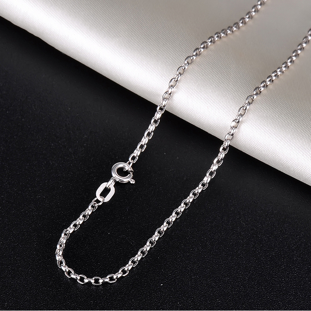 18K Pure Gold Necklace Real AU 750 Solid Gold Chain Simple Beautiful Upscale Trendy Classic Party Fine Jewelry Hot Sell New 2020 3