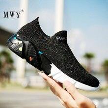 MWY موضة زوجين التمويه الجوارب حذاء كاجوال sheenen Vrouw تحلق النسيج أحذية رياضية امرأة تنفس لينة أحذية مفلكنة