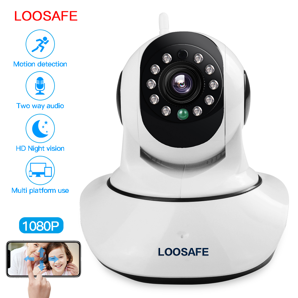 LOOSAFE Surveillance IP Cameras Wifi Callable Baby Monitor Indoor Removable Security Camera for Home HD Night Vision Cam LS-F2