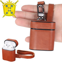 AirPods Case,Leather Plastic Skin Portable Protective Cover with Metal Clasp and Leather Lanyard for Apple AirPods Charging Case phone case wood leather card metal glass plastic printing uv ink with factory price