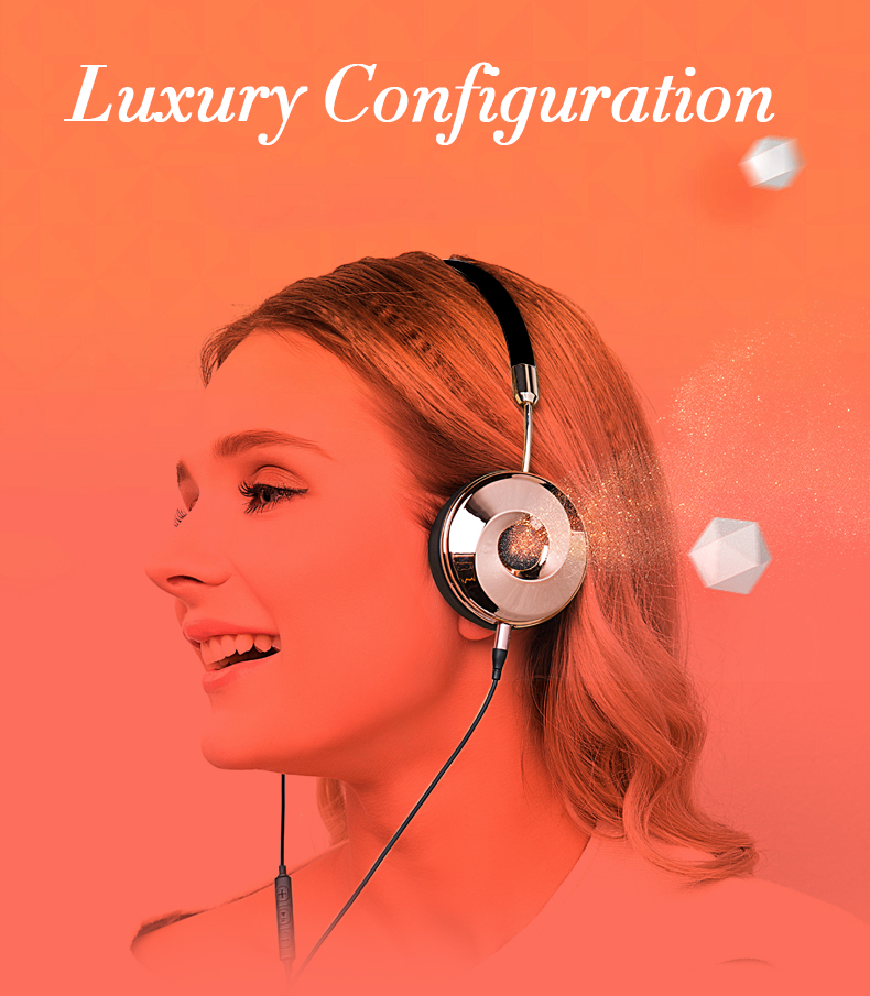 Liboer Headphones Wired On-ear Stereo Headphones for Mobile Phone Best Foldable Headset High Quality Rose Gold Headphone _01