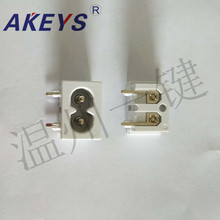 10 PCS AC-003C power socket high quality base 90 degree 8 word 10A250V plum blossom white