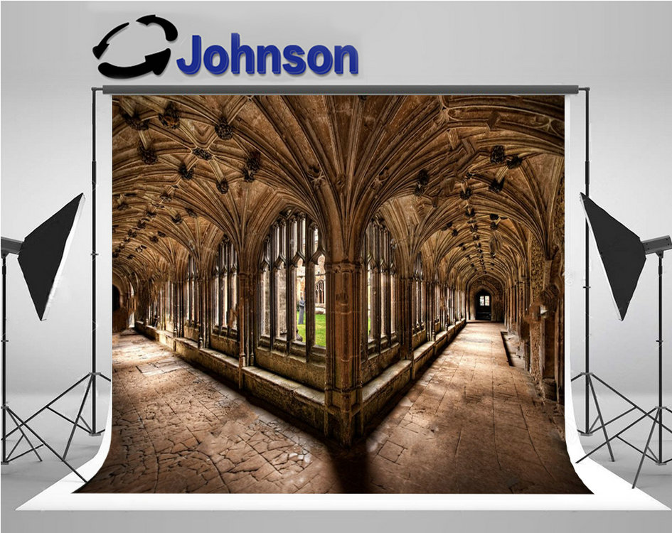 Lacock Cloisters Hallway Column Hogwarts Photo Backdrop High