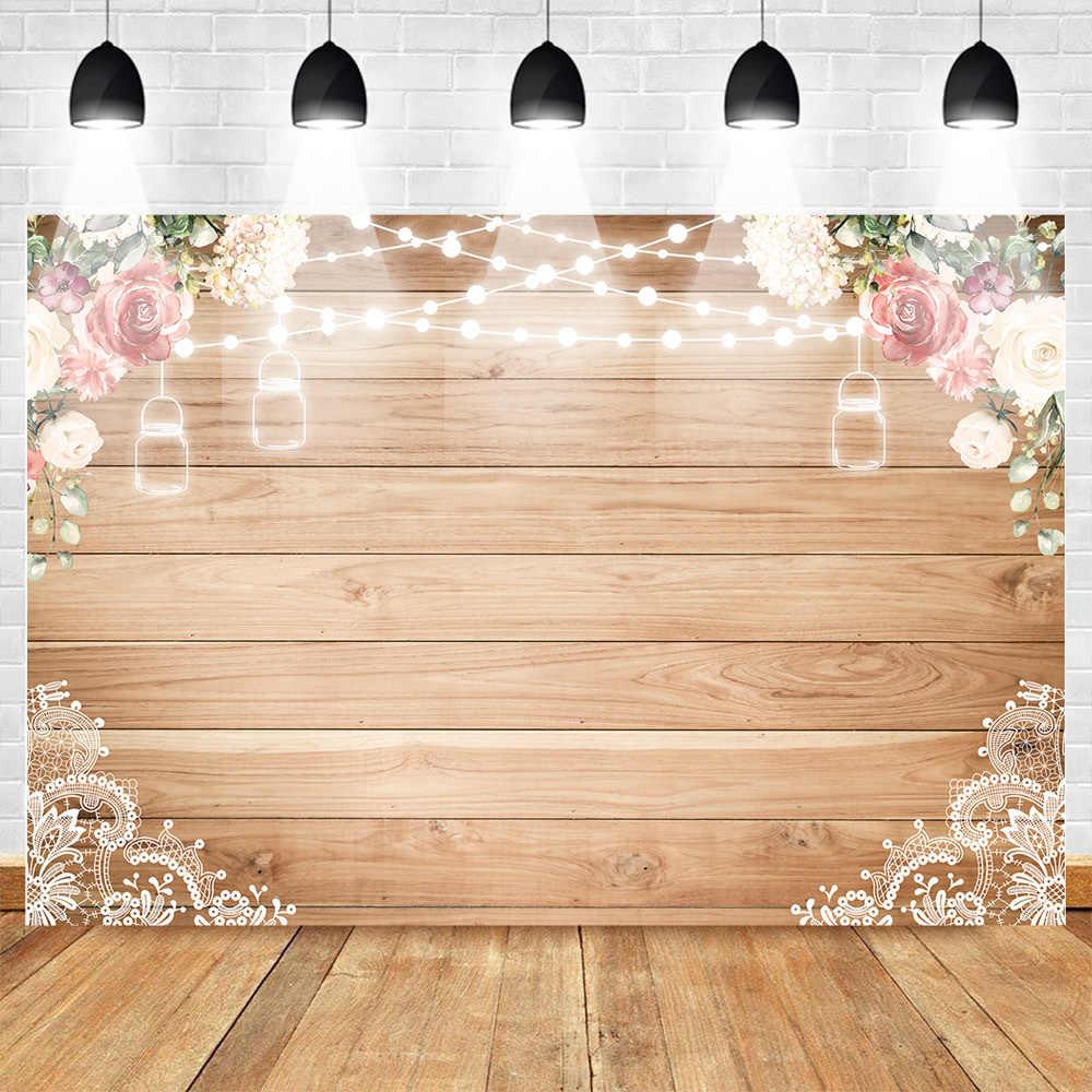 ورد من الأقمشة الخشب الدانتيل ريفي خلفية دائم الزفاف الزهور التصوير خلفية خشبية مجلس الطابق الزفاف دش الطفل