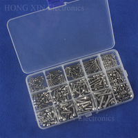 535PCS Head Hex Socket Cap Cylinder M2/M3/M4 Screw Bolt Nut 304 Stainless Steel Assortment Kit Fastener Hardware with Box