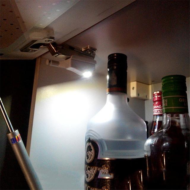 Universal Inner Hinge LED Cabinet Light battery powered Kitchen Bedroom Closet Night Light Cupboard Wardrobe Furniture Light
