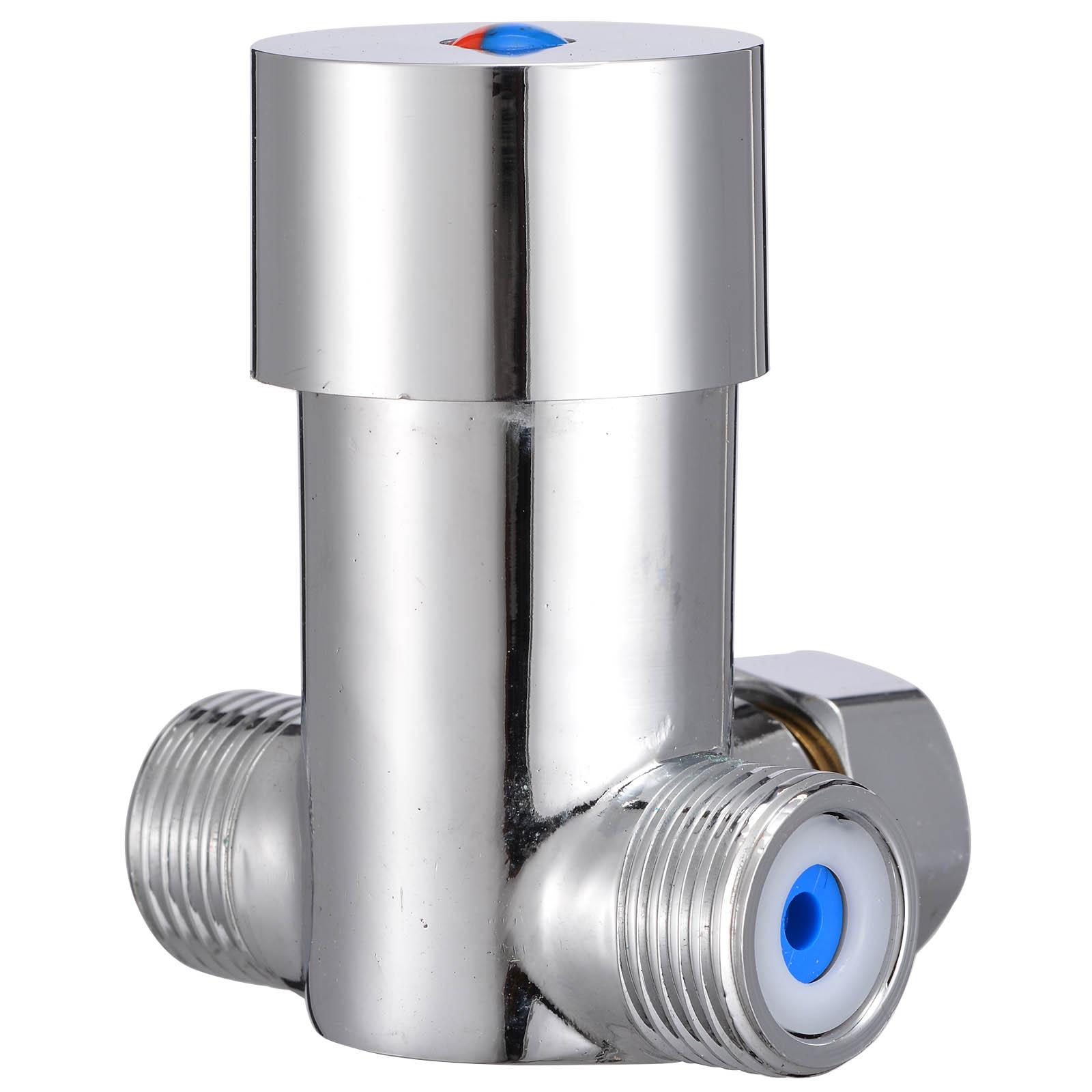 Hot Cold Water Valve Temperature Control Thermostatic Mixer Mixing Valve Sensor Tap For Home Improvement Tool