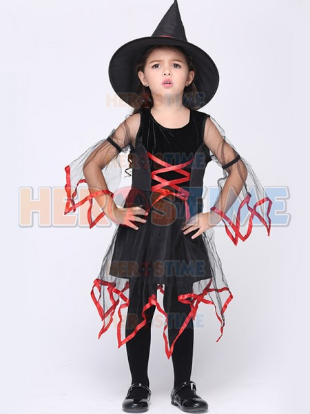 Baby Girl Halloween Costume Witch Fancy Dress Party Costume Dress