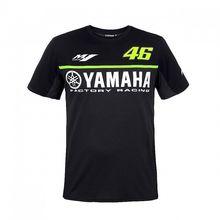 New 2017 Valentino Rossi VR46 Racing Black/gary Moto GP Men's for Yamaha T-Shirt Motorcycle Sports Tee