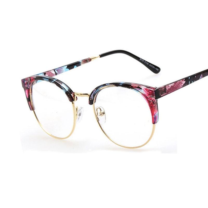 hot sale 2017 new designer round men glasses retro fashion black women glasses frame clear lens