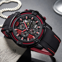 цена 2018 Luxury Brand MEGIR Men Military Sports Watches Men's Quartz Date Clock Man Casual Silicone Wrist Watch Relogio Masculino онлайн в 2017 году
