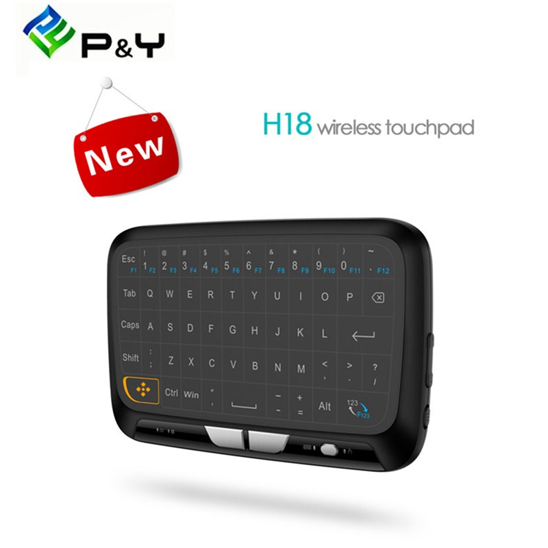 Air Mouse Mini H18 Wireless Keyboard USB 2.4G Portable Keyboard With Touchpad Mouse for Windows Android/Google/Smart TV Box new ru for lenovo u330p u330 russian laptop keyboard with case palmrest touchpad black