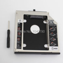 Free Shipping SATA Hard Driver Disk Adapter 12.7mm DVD-ROM Optibay Magnesium alloy disk bracket for Thinkpad T420 T430 T510