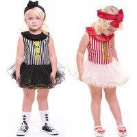 Little Girls Gold Polka Dot Striped Glitter Party Dress Tutu Romper Dress Toddler Kids Princess Dancing