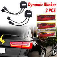 A Pair For Audi A6 C7 Avant 4G Semi Dynamic Turn Signal Indicator For LED Taillights 2012 2013 2014