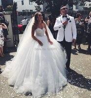 YNQNFS IWD3 пышные фатиновые пол Длина Винтаж арабский Свадебное платье Платье принцессы для свадеб и вечеринок 2019