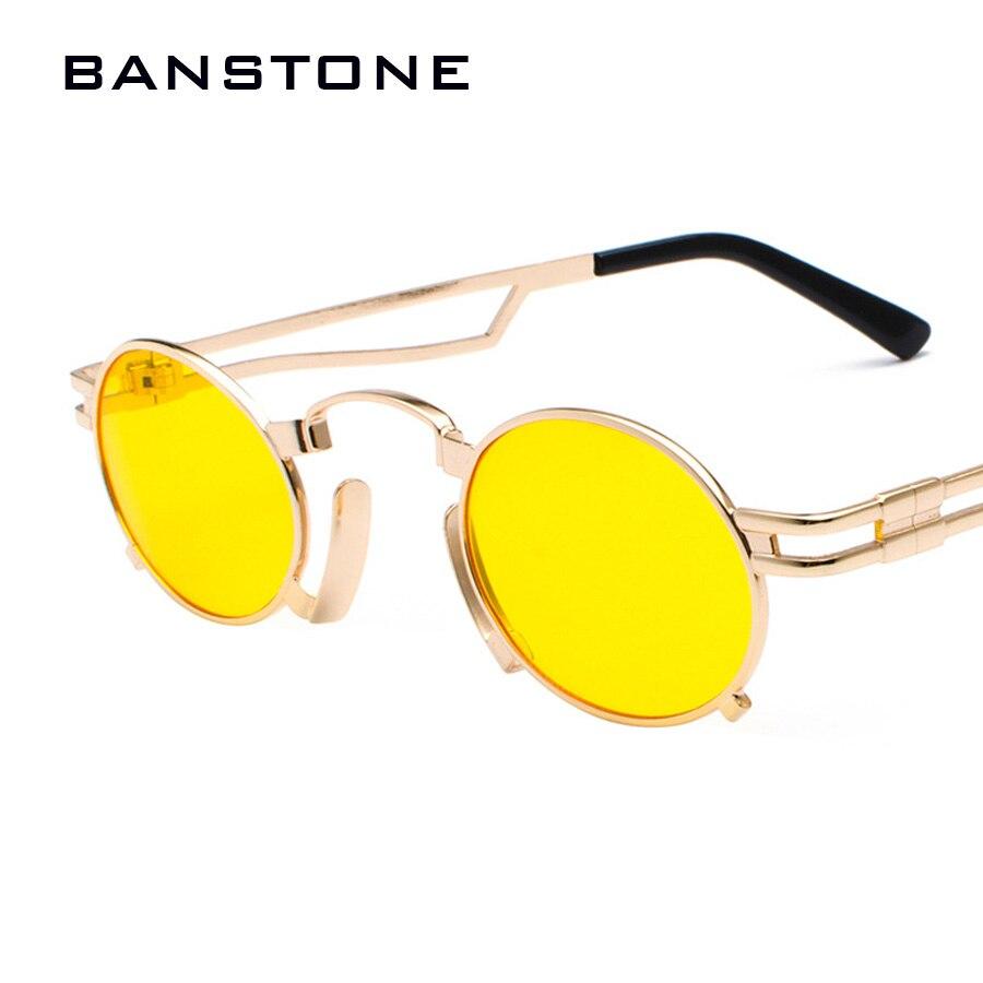 3d92e2f17e6 BANSTONE Men Metal Oval Frame Steampunk Gothic Vampire Sunglasses Unisex  Retro UV400 Sun Glasses Cosplay Styling Oculos De Sol-in Sunglasses from  Apparel ...