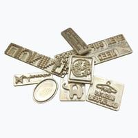 Индивидуальный дизайн тиснение кожа горячее тиснение фольга медная форма кожа марки буквы набор стальных ударных штампов