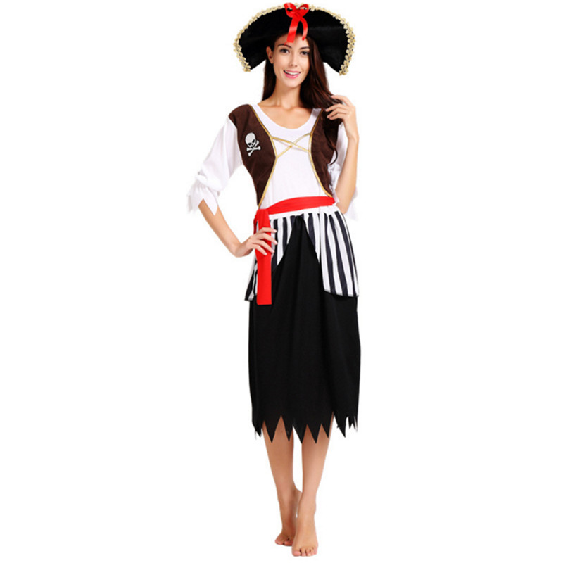 2018 New Sexy Pirate Costume Women Halloween Carnival Costumes Fantasia Fancy Dress -7965