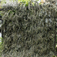 ROCOTACTICAL Synthetic Camo Ghillie Netting 80x90cm Woodland Military Thread Camouflage Netting for Airsoft Paintball Hunting