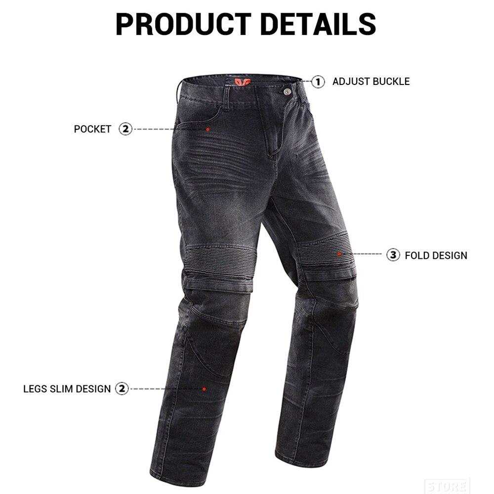 DUHAN Moto vestes respirant Moto costume Moto pantalon coupe-vent course Jeans équitation pantalon Automobile course pantalon hommes - 5