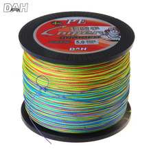 DAH 1000M PE Braided Fishing Line 4 Strands Wire Super Strong Japan Multifilament Braided Lines Carp Fishing Rope 20LB-100LB