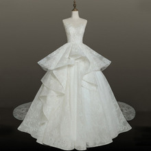 car&ffiv Luxury Lace Dress2019 Bride Dress Trailing Dreamy