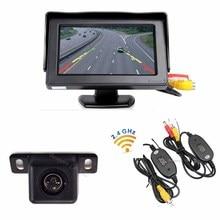 Koorinwoo Wireless Car 4.3″ TFT LCD Vehicle Screen Monitor mirror CCD HD Reversing system Rearview camera Parking Assitance