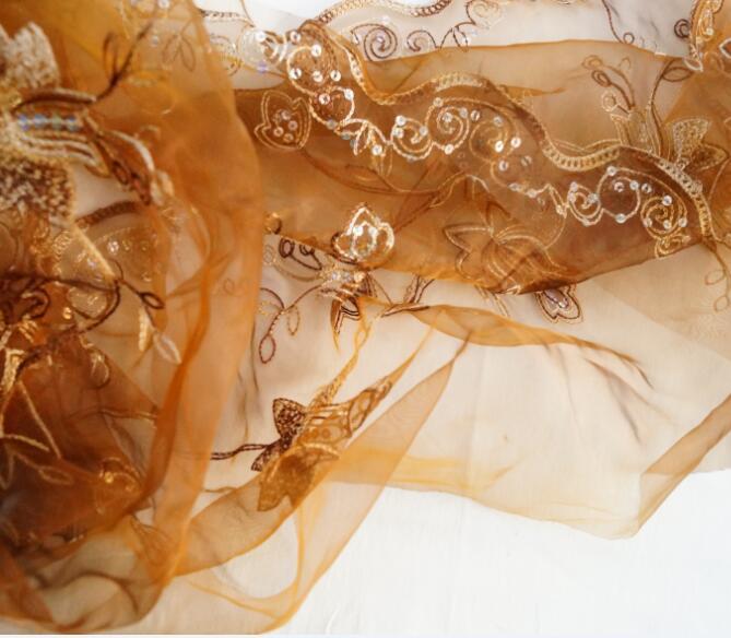 BluePolyester fiberChiffon Embroidery Dress Trouwjurkstof Jacquard - Kunsten, ambachten en naaien - Foto 2