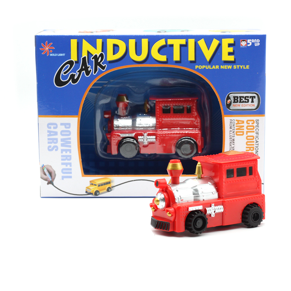 New-Engineering-Vehicles-Truck-MINI-Magic-Pen-Inductive-Childrens-Truck-Tank-Toy-Car-Draw-Lines-Induction-rail-Track-Car-2