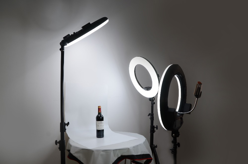 FD 480II negro bicolor foto estudio anillo luz + bolsa suave LED Video lámpara iluminación fotográfica 5500 K 480LED luces CD50 - 4
