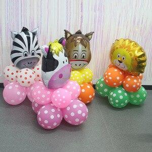 Image 4 - Dschungel tier ballon set geburtstag party dekorationen kinder zoo Safari tier luftballons dschungel party liefert decor