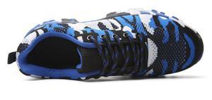 Image 4 - Inşaat erkekler açık artı boyutu çelik burunlu iş ayakkabıları ayakkabı erkekler kamuflaj delinme geçirmez güvenlik ayakkabıları nefes