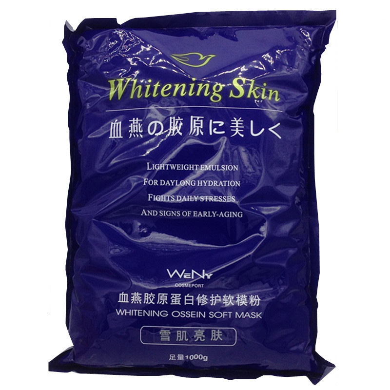 1000g Collagen Repair  Whitening Soft Mask Powder Face Elastic Masks Skin Care Treatment Beauty  Hospital Equipment Wholesale skin care retro package pearl facial soft mask powder whitening speckles freckles beauty tools