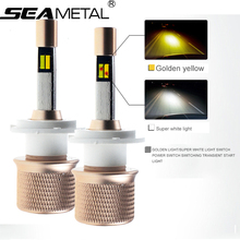 Dual Color in one 2X 4800LM 40W 12-24V Car LED External Lights Headlight Bulbs H1 H11 H4 H7 9005 9006 leds Light Lamps