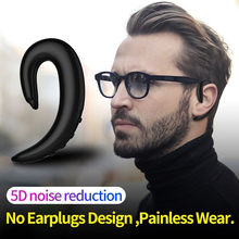 Newest Hands-free Bone Conduction Headset Painless Wear 5D Noise Reduction Earphones Wireless Bluetooth Music Earpieces With Mic edal bone conduction headphones earphone wired noise reduction earphones hands free outdoor sports with microphone smart phone