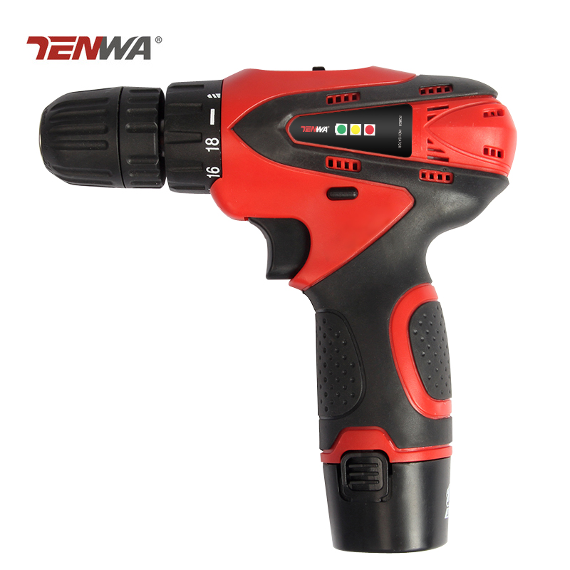 цена на Tenwa 12V Electric Drill Screwdriver Rechargeable Household Lithium-Ion Battery Cordless Drill Power Tools Electric Drill