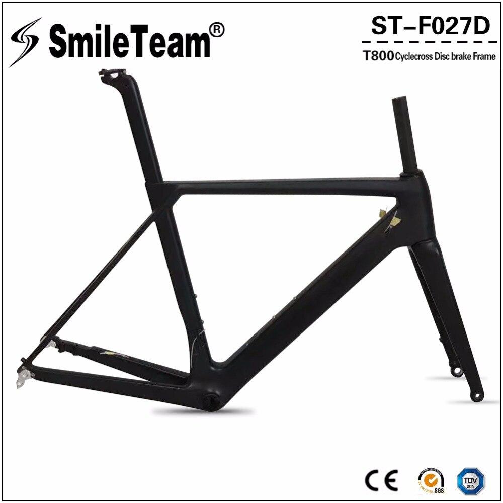 2018 New Cyclocross Carbon Frames Thru Axle 142*12mm Cyclocross Disc ...
