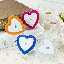 SuperNight Light Sensor Control Mini LED Night Light Romantic Heart Toilet Bedside Lamp for Children Kids Baby Sleeping EU US