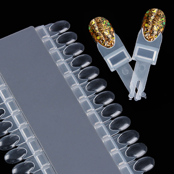 24 Pcs Clear Color Cartão Removível Display Rack Teardrop Projeto Manicure Nail Art Ferramenta Prática