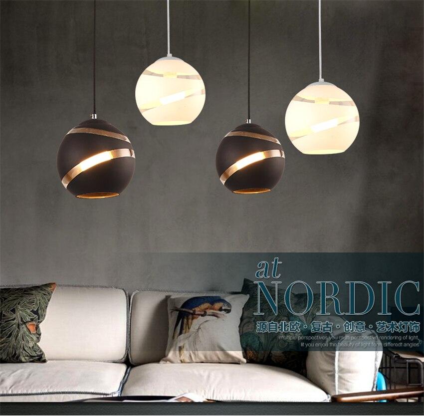 Lampes suspendues nordiques Vintage Restaurant lampes suspendues Led salle à manger café vêtements chambre lampe suspendue décoration italienne luminaires