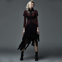 Gorgeous Court Gothic Lace Short Skirts Steampunk Sexy Women Casual Black Irregular Skirt