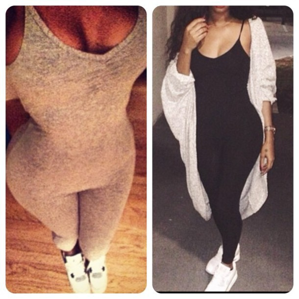 Aliexpress.com : Buy 2015 New Casual Women's Jumpsuits Black Gray ...