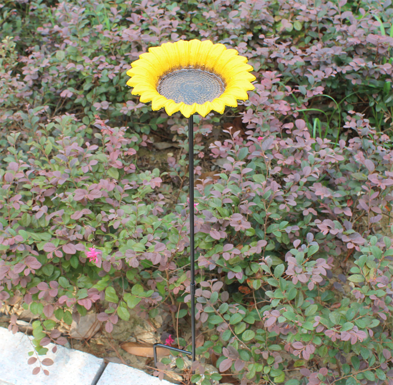 2 in 1 Iron Flower Garden Decor Europen Style Outdoor Bird Feeder in Garden Pot Home Decoration