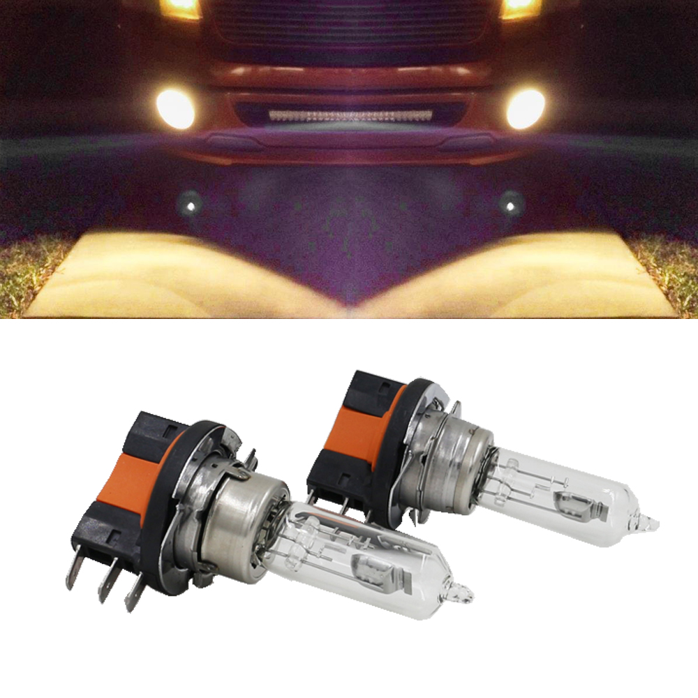 2x H15 Halogen Lamp 15/55W 12V Fog Lights/High Beam Headlig Bulbs 4300K-5000K Clear Glass Car Light Source