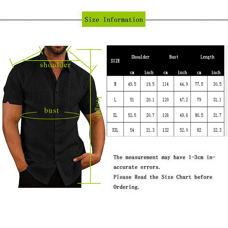 Litthing 2019 Men's Shirts Solid Short Sleeve Button Casual Tops Male Streetwear Loose Summer Slim Fit Breathable Shirt Chemise